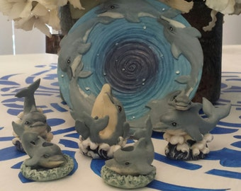 Dolphin Family Mini Tea Set