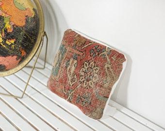 Antique Heriz Rug Fragment Pillow