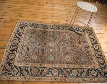 4.5x6 Antique Persian Tabriz Rug