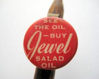 Vintage Advertising Pencil Topper Jewel Salad Oil