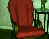 Glider Rocker Slip Cover for your Cushions- DARK RED Fabric or PICK from other choices