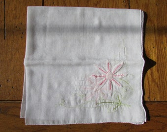Vintage Detailed Handkerchief with flowers