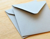 Gray Mini Envelopes, Set of 10, Enclosure Cards, Gift Card Envelopes, Business Card Envelopes, Love Note, Keepsake Envelope, Advice Card