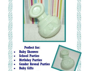 10 Baby Shower Soap Favors, Baby Rattle Soap Favors, Gender Reveal Shower Favors, Welcome Baby Favors