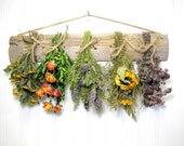 Fragrant Dried Herb Rack, Kitchen Decor, Dried Floral Arrangement, Wall Decor