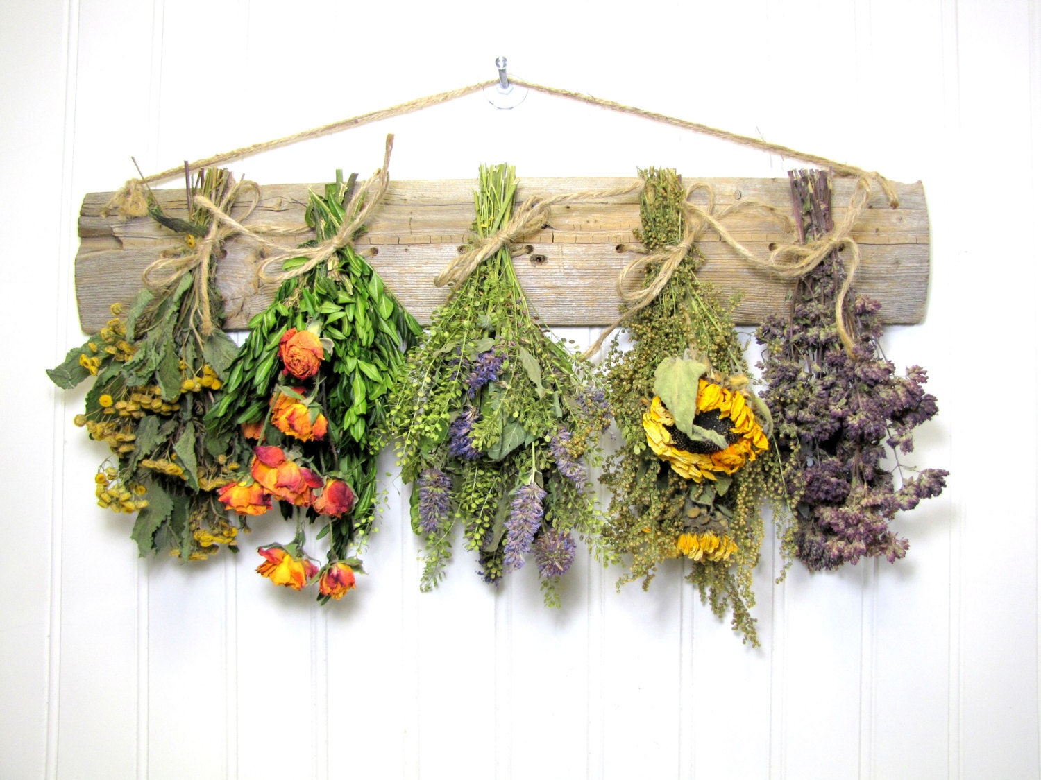 Fragrant Dried Herb Rack Kitchen Decor Dried Floral
