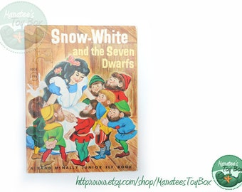 Vintage Snow White and the Seven Dwarfs Junior Elf Book 1950s