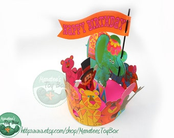 Vintage Hallmark Birthday Centerpiece: Happy Birthday Circus