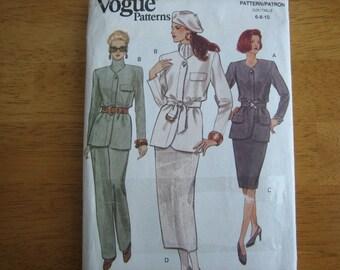 Vogue Pattern 8764 Misses' Jacket, Skirt & Pants    1993     Uncut