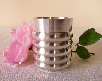 French vintage silverware, SILVER TUMBLER Lovely french silver plated tumbler - can be a vase - cottage chic