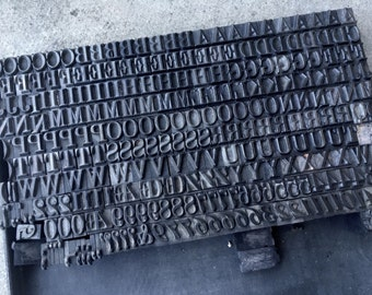 Letterpress Metal 34pt Stephenson Blake Modern No20 Vintage founders type - price per letter or number