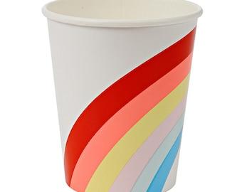 Rainbow Paper Cups by Meri Meri (set of 12) | Art Party | Rainbow Party | Unicorn Party | Saint Patrick's Day