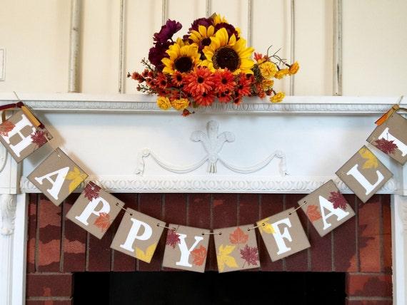 Fall decorations happy fall banner thanksgiving decor Happy thanksgiving decorations