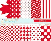 75% OFF SALE canada digital papers canadian - Oh Canada Digital Papers