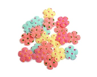 Pre cut felt flower Shapes daisy flower haberdashery Fabric flower patch fabric accessories crafts