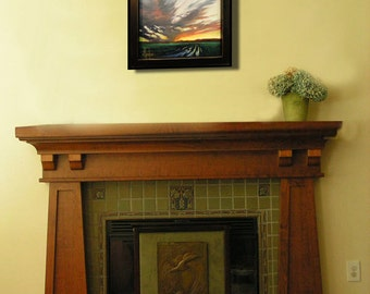 FRAMED Art Painting American Craftsman Arts & Crafts Impressionism Landscape Plein Air Artist Signed Collected HAWKINS Oil original Canvas