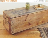 SALE industrial coffee table ,trunk coffee table, rustic coffee table, crate coffee table, wood shipping crate, storage trunk, NYC