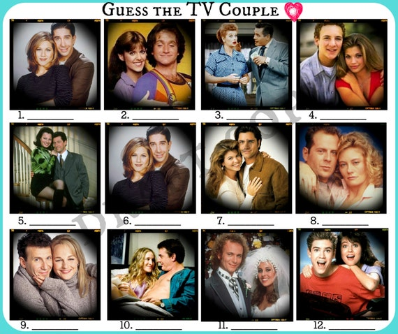 Famous couples game | Etsy