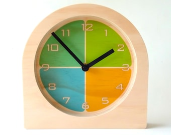 Objectify Segment Quarters Desk Clock