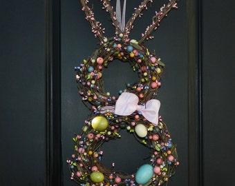 Easter Wreath - Bunny Wreath - Fun Summer Wreath -  Easter Decoration -