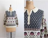 80s Wonderland Sweater / 1980s Sweater / Jumper / Vintage Pullover