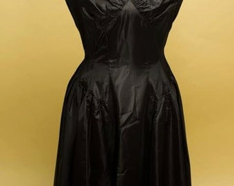 SALE Black taffeta Christmas holiday fancy vintage Lilli Diamond dress and bolero