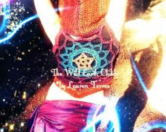Star Dancer Nebula Pixie Vest-Made To Order-Knit Crochet Gypsy Hippie Hippy Elf PDF Sweater Jacket Hoodie Hoody Vest Womens Clothing
