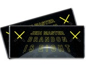 Jedi Master Birthday Candy Bar Wrappers - Jedi Master Party Favors - Set of 12