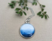MOUNTAIN NECKLACE | The Mountains are Calling and I Must Go | Silver Blue Mountain Ridge Jewelry | Go Adventure Go Seeking | Mountain Love
