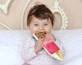 Fab Ice Cream Baby Rattle Baby Gift Baby shower Gift