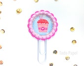Bottle Cap Planner accessory Paper Clip | Strawberry Sorbet Journal Clip Bookmark, Journal Markers. Calendar Planner accessories  Stationery