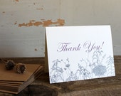 RESERVED for Sarah - wildflower thank you cards - 40 wedding thank yous floral thank you cards