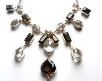 Superb Designer Sterling Silver Quartz Necklace
