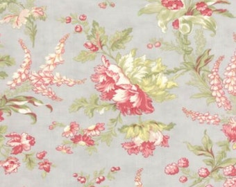 Whitewashed Cottage - Floral Pebble Grey by 3 Sisters from Moda