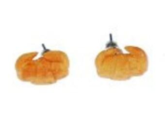 Croissant earrings of Miniblings plug earrings pastry breakfast Croissant beige