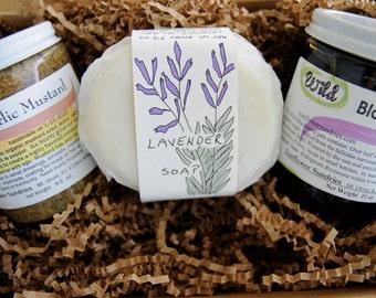 Gift Box - Soap, Jam & Mustard