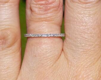 Pave set diamond band..ETERNITY BAND......wedding band.....engagment ring...stacker band
