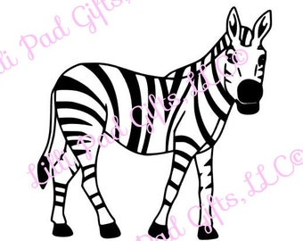 Zebra Cut File - Instant Download - SVG Vector JPG for Cameo Silhouette Studio Software & other Cutter Machines