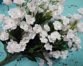 BABY'S BREATH, Gypsophilia Bush, 19 inches tall, 11 Sprays, Silk Flowers, Filler, Floral Filler