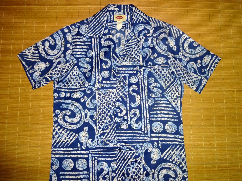 Mens vintage 70s pomare tribal dance hawaiian aloha shirt for The hawaiian shirt company