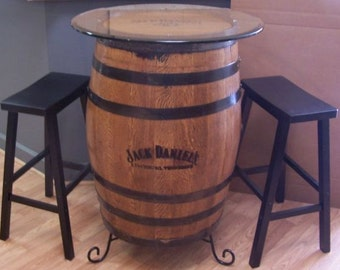 jack daniels whiskey barrel etsy fr. Black Bedroom Furniture Sets. Home Design Ideas