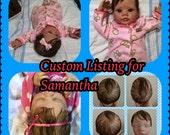 Custom Listing for Samantha - Reborn Doll Custom Order Two Dolls Heather Sculpt & Kendal Sculpt Deposit