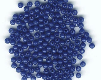 DOLLAR DEAL, Clearance, 3mm Opaque Dark Blue, Bargain Deal, Best Deal, 3mm Lucite Bead, Dark Blue, 3mm Blue, Sale Bead, Round Plastic Bead
