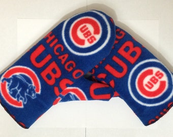 Chicago Cubs Mittens, Fleece Mittens, Royal Blue and Red, Winter Mittens, Baseball Mittens, Chicago Cubs Gloves, Chicago Baseball (C-101)