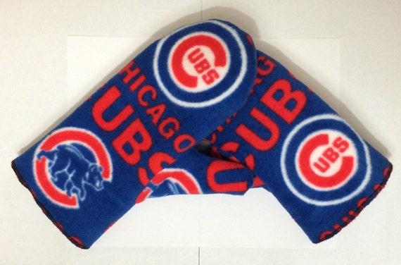 Items similar to Chicago Cubs Mittens, Fleece Mittens