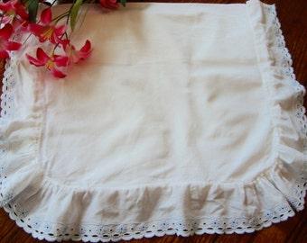 Baby Pillowcase Vintage Pillow Sham White Pillow Bedding Antique Pillow