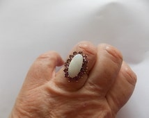 Vintage 9ct Gold Opal Rubies Ring -GORGEOUS