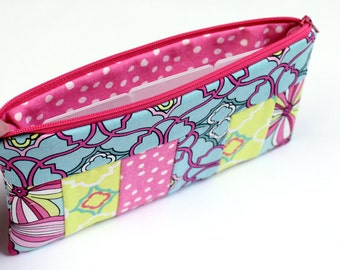 Cash Budget System - Pencil Pouch - Cosmetic Case - Zippered Pouch - 6 Dividers - READY to SHIP