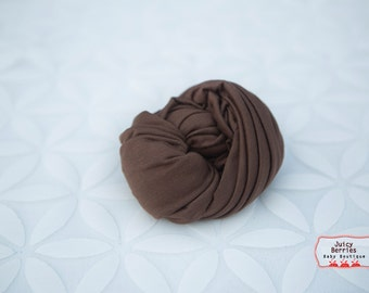 Chocolate Brown Stretch Knit Wrap, Weave Knit Wrap, Newborn Photo Prop, Knit Baby Wrap, Mini Blanket, Photography Props, Cocoon