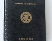 vintage sketchbook, 5 ring notebook, The Veterans Administration, Formulary, from Diz has Neat Stuff